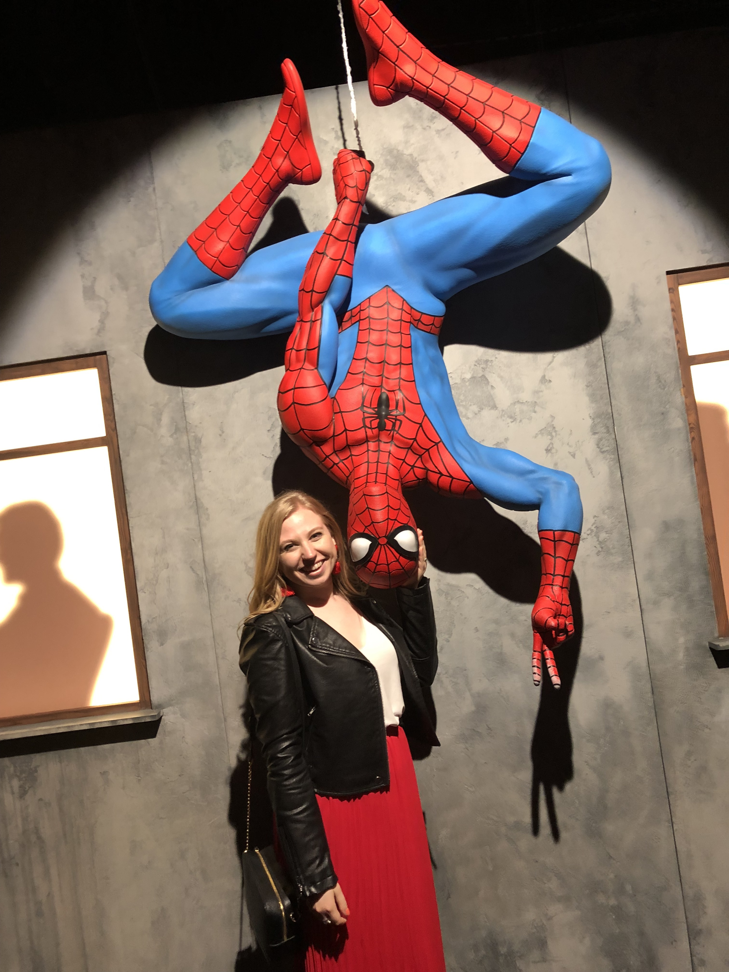 Spider-Man at MARVEL: Universe of Super Heroes at the Franklin Institute
