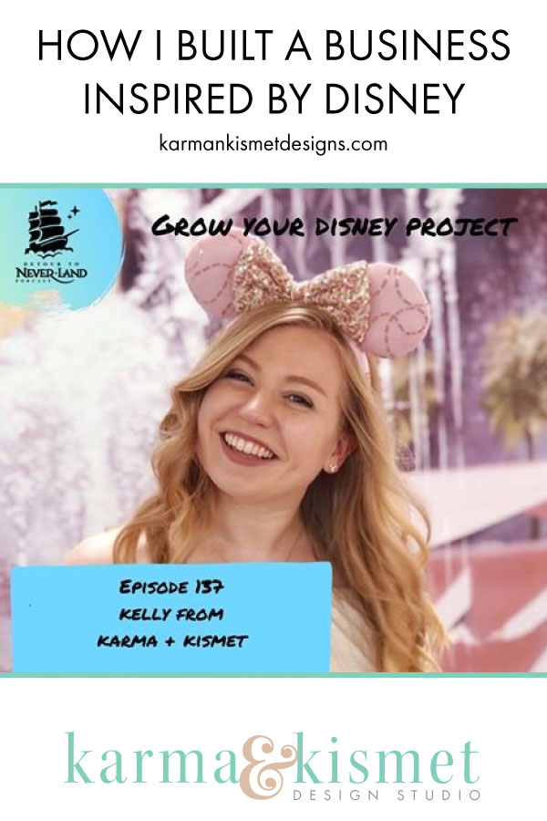 Learn how I used my love of Disney to build a successful small business as a creative entrepreneur.