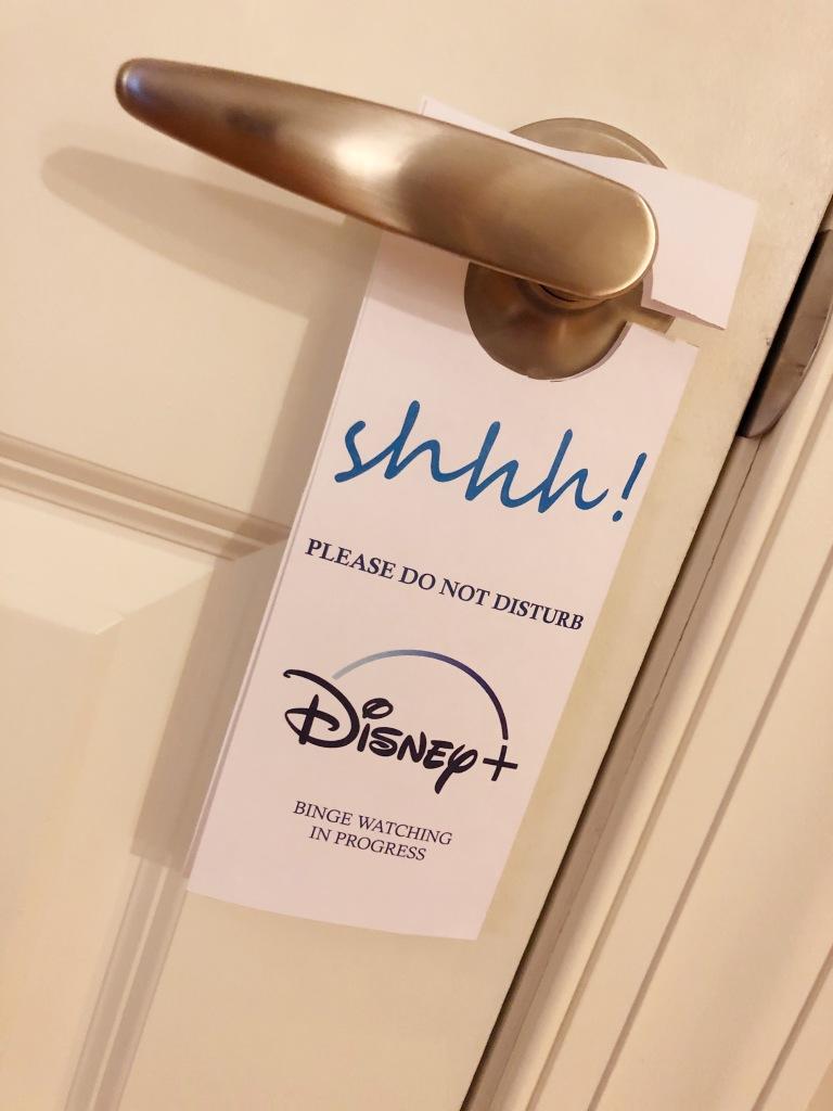 Free Disney+ door hanging download