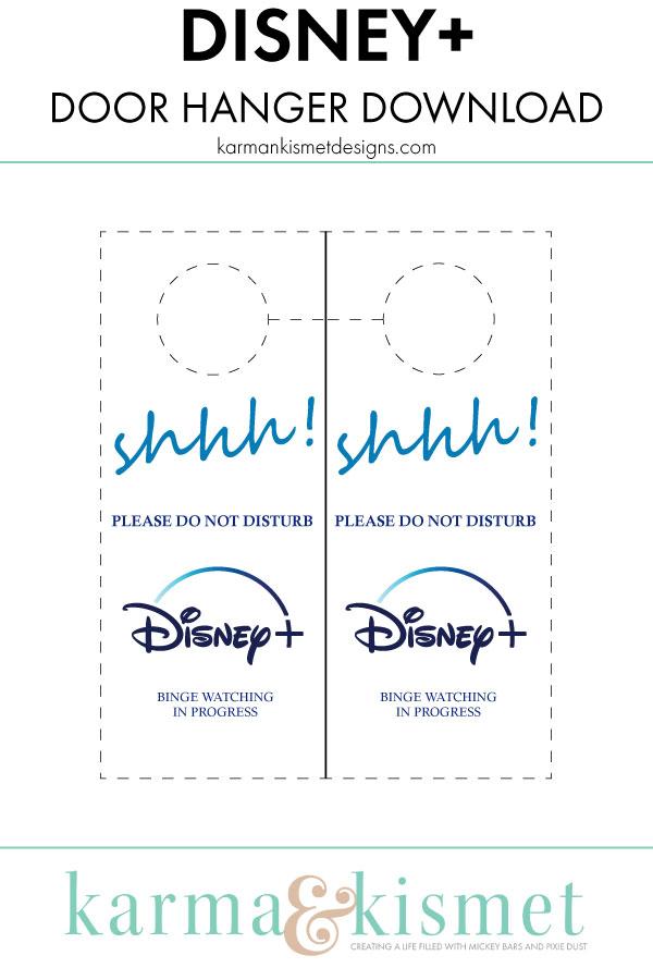 Free Disney+ door hanger download