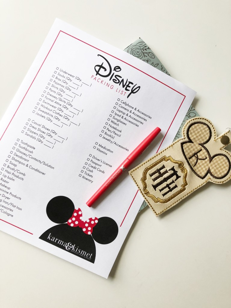 Disney Packing List Free Download
