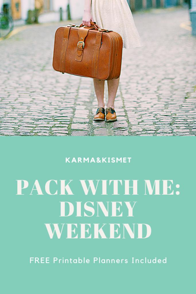 Pack with Me Disney Weekend