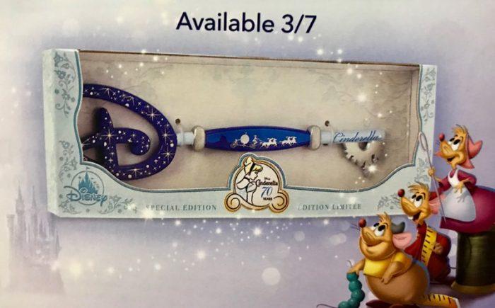 Cinderella 70th Anniversary Disney Store Key