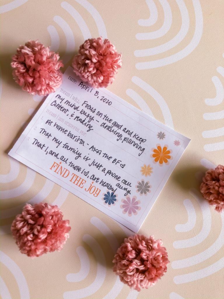 Printable Daily Gratitude Cards