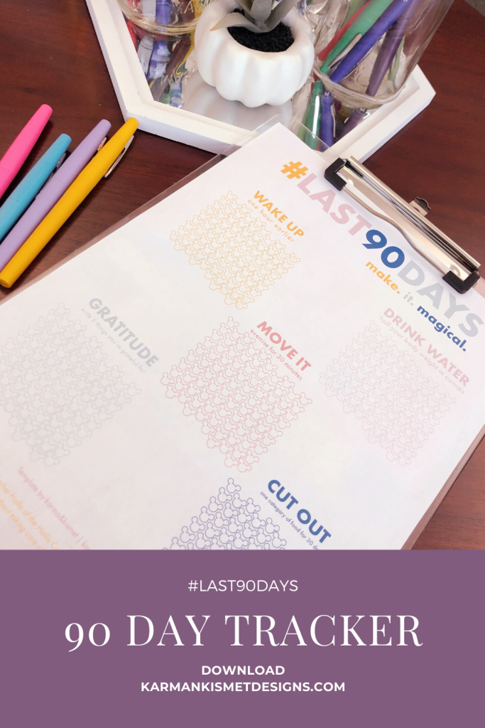 #Last90Days Challenge tracker FREE download