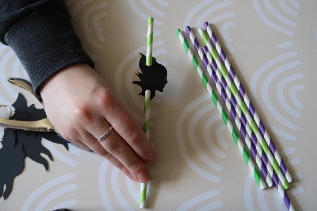 DIY Maleficent straws