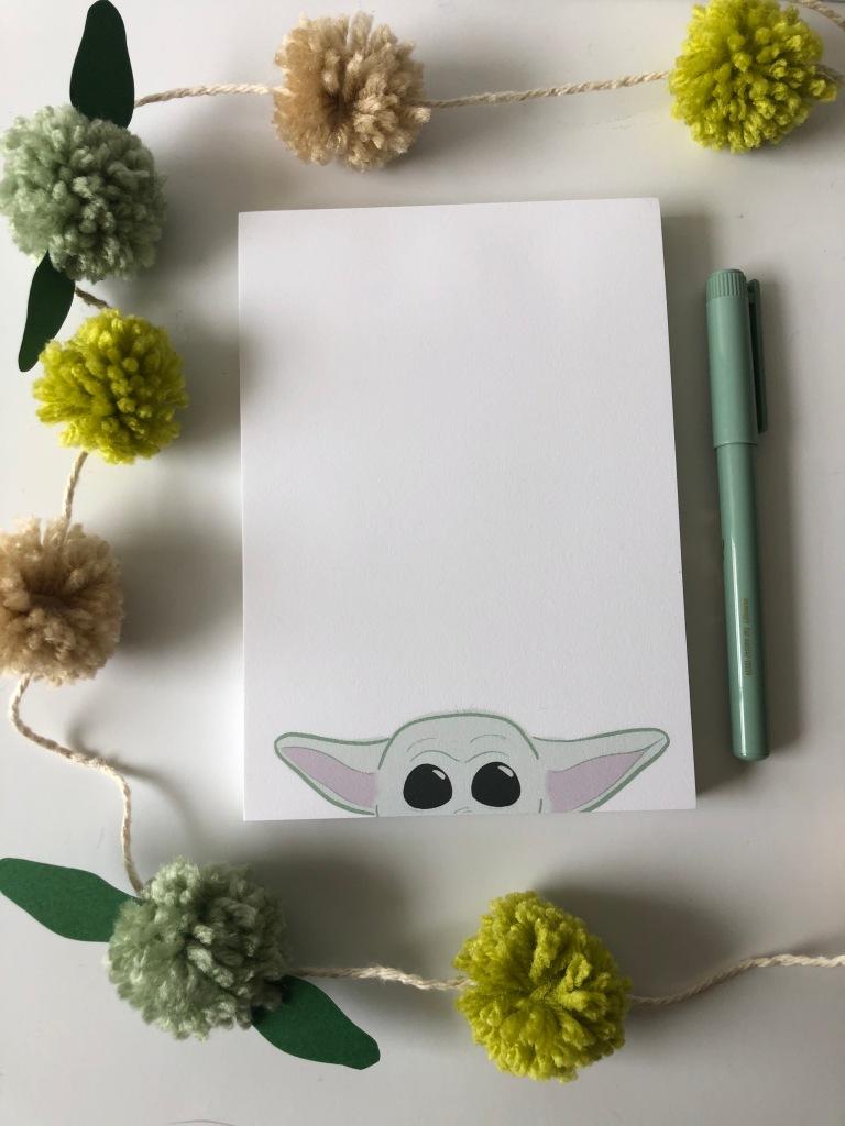 Baby Yoda Notepad