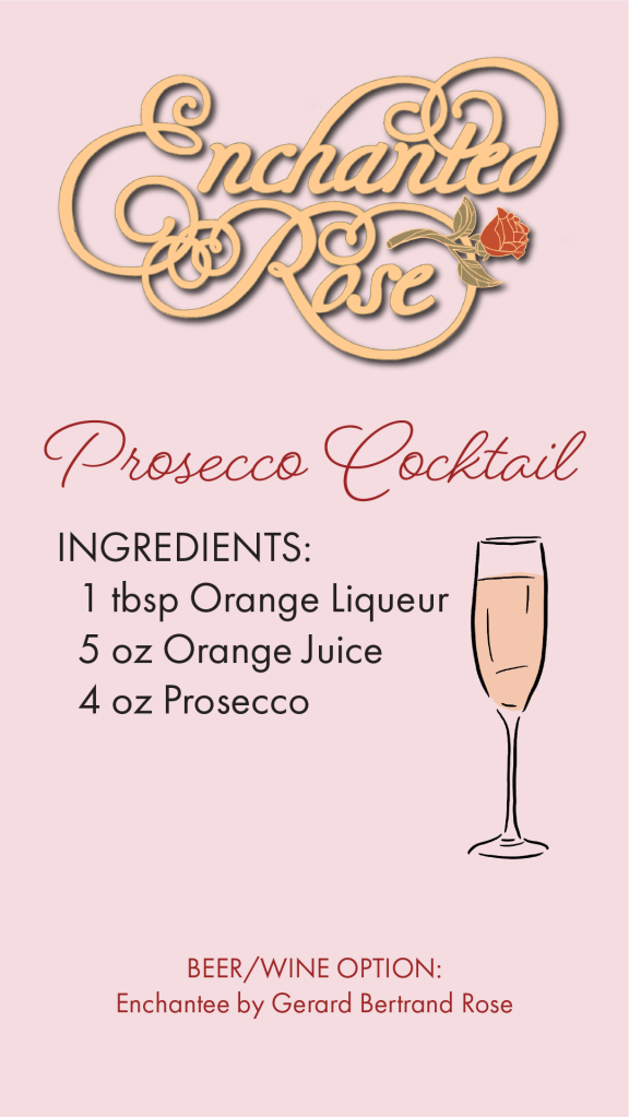 Disney Grand Floridian Enchanted Rose Prosecco Cocktail Recipe